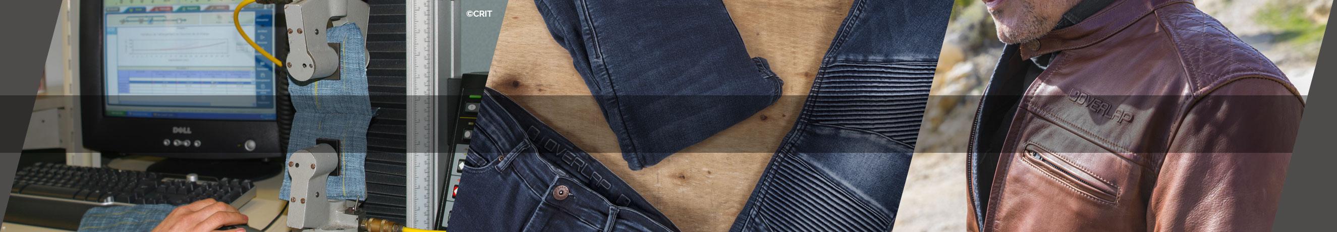 normes ce pantalons blousons moto overlap denim. Black Bedroom Furniture Sets. Home Design Ideas